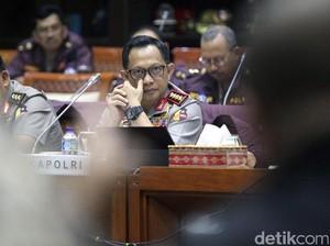 Kapolri-Komisi III Raker Bahas Terorisme