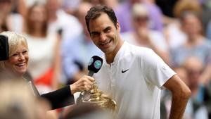 Federer di Wimbledon: 14 Tahun, 8 Trofi, 5 Perempuan