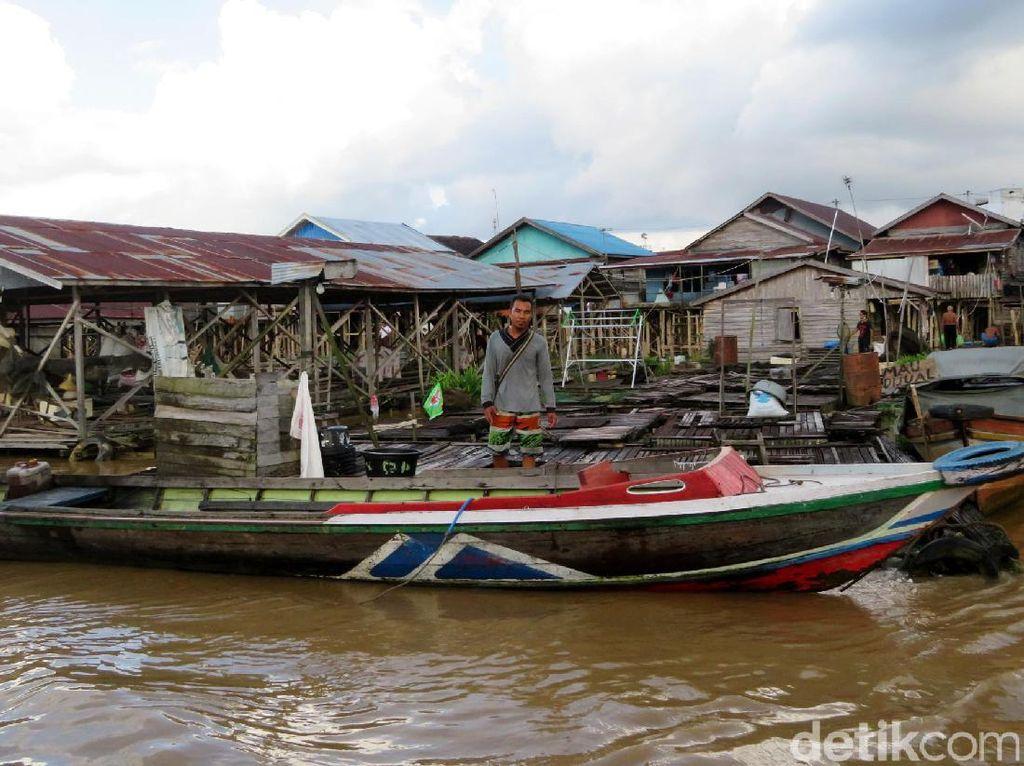 Begini Keseharian di Pinggir Sungai Kahayan