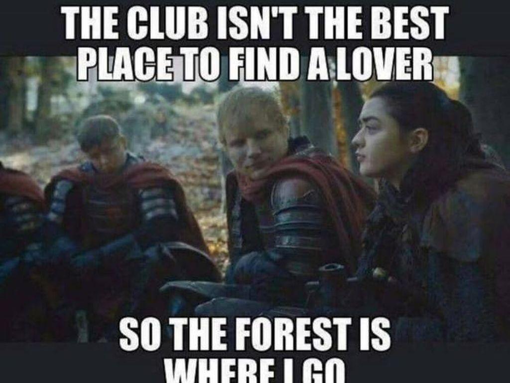 Nongol di Game of Thrones 7, Ed Sheeran Jadi  Lelucon Meme