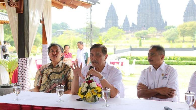 Menko Luhut dan Menpar Arief Yahya di Yogyakarta (dok Kemenkomaritim)