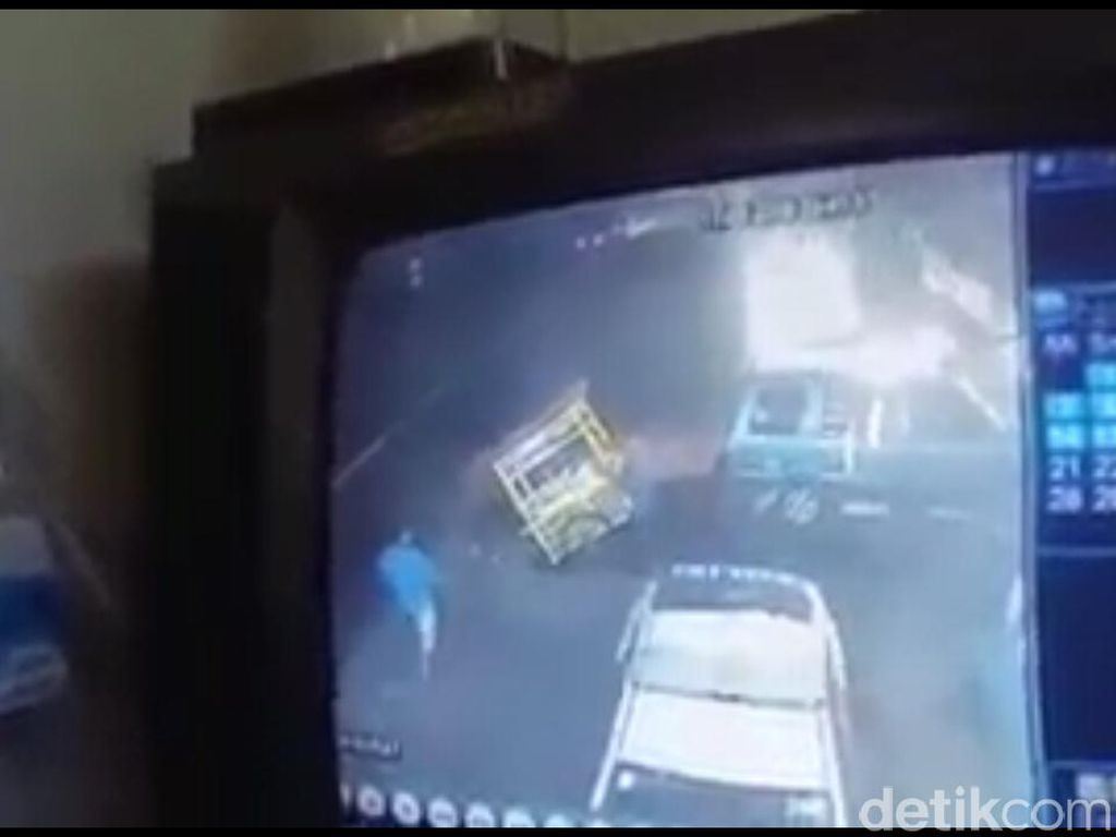 Ini Kata Warga Soal Gerobak Bakso Jalan Sendiri di Lokasi Kecelakaan