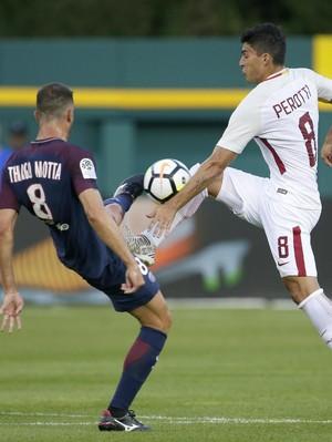 Aksi-Aksi dalam Duel Roma vs PSG