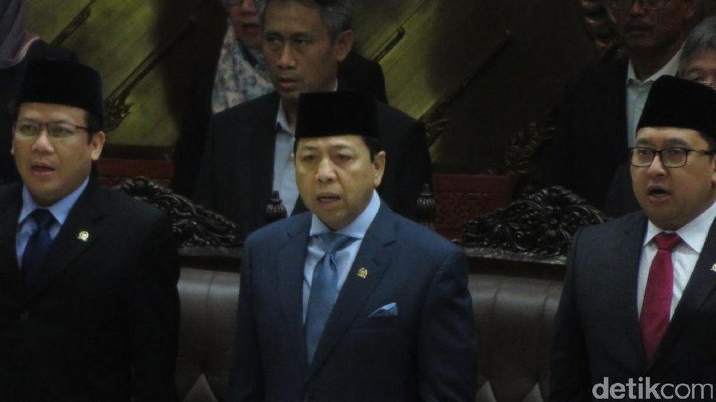 Foto: Novanto Ikut Pimpin Paripurna DPR Bahas RUU Pemilu