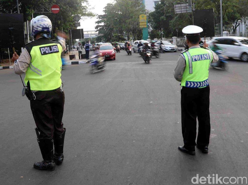Ada Pelantikan Perwira TNI-Polri, Lalin Sekitar Istana Dialihkan