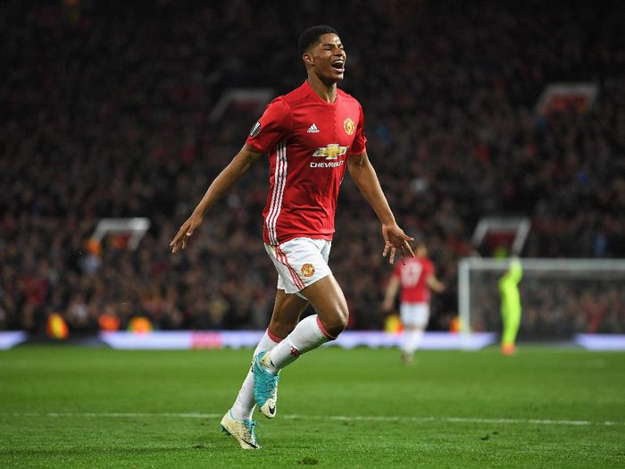 Striker Manchester United, Marcus Rashford (Foto: Laurence Griffiths/Getty Images)
