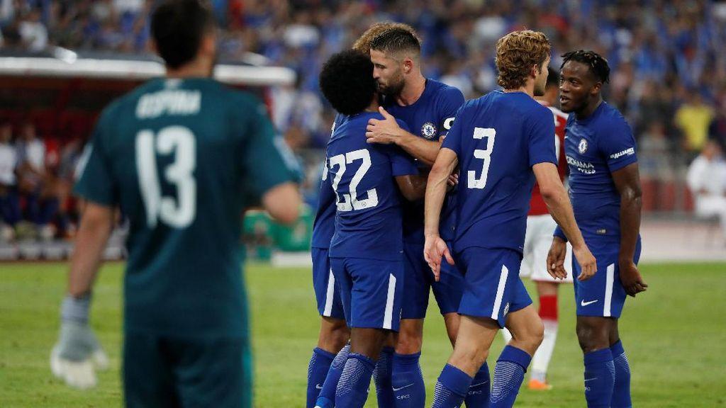 Chelsea Memimpin 2-0 atas Arsenal di Babak Pertama