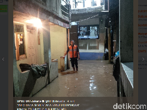 Kali Pesanggrahan Jakarta Siaga 4, Kebayoran Lama Banjir