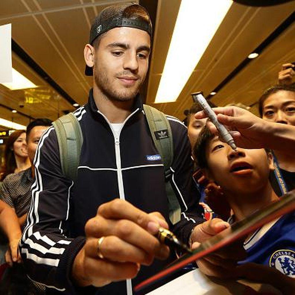 Tiba di Singapura, Morata: Halo, Chelsea!