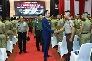 Jokowi Beri Pembekalan Capaja TNI-Polri