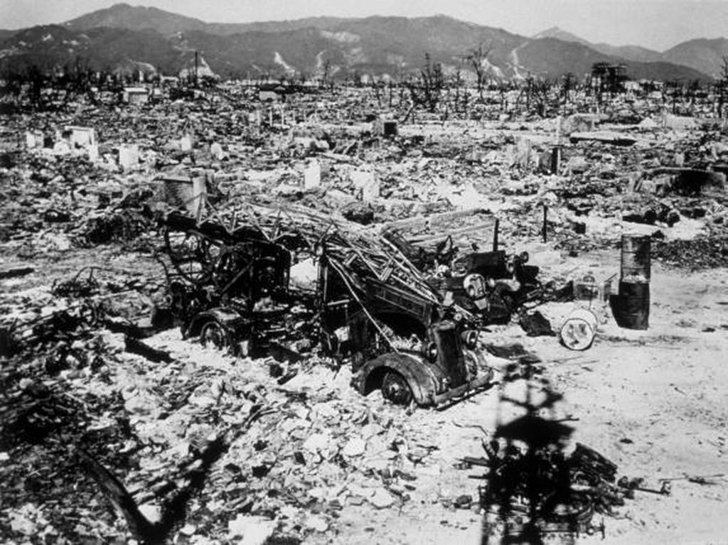 Potret Menyedihkan Jepang Luluh Lantak Dibom Atom