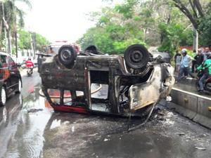 Polisi: Sopir Angkot yang Tewas Terbakar di Pluit Diduga Epilepsi