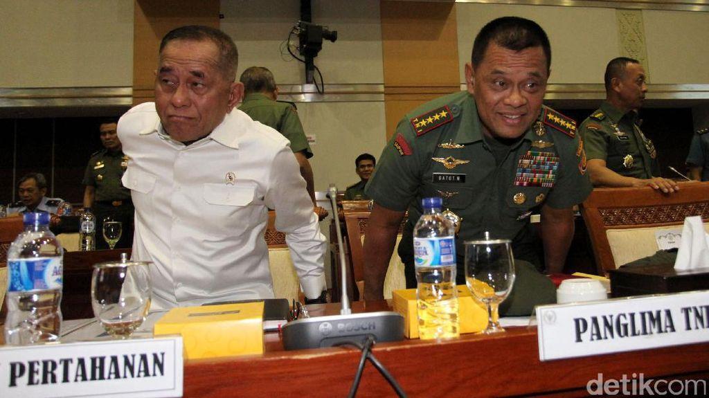 Menhan dan Panglima TNI Raker dengan Komisi I DPR