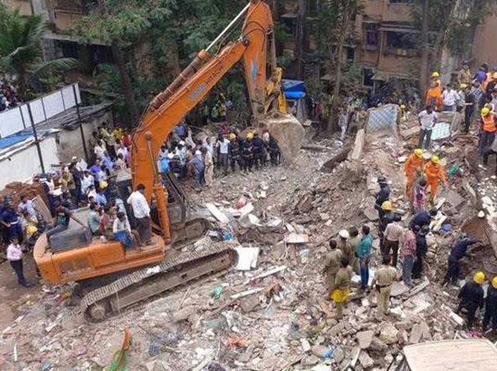 Gedung Berlantai 4 di Mumbai Tiba-tiba Ambruk, 4 Orang Tewas