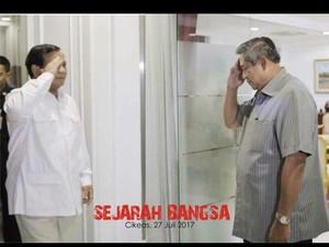 SBY-Prabowo Bertemu Besok, Kader PD Buat Poster Sejarah Bangsa