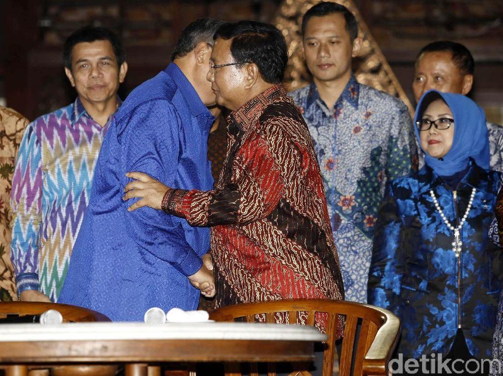Bertemu SBY Besok, Prabowo: Penjajakan Semua Kemungkinan