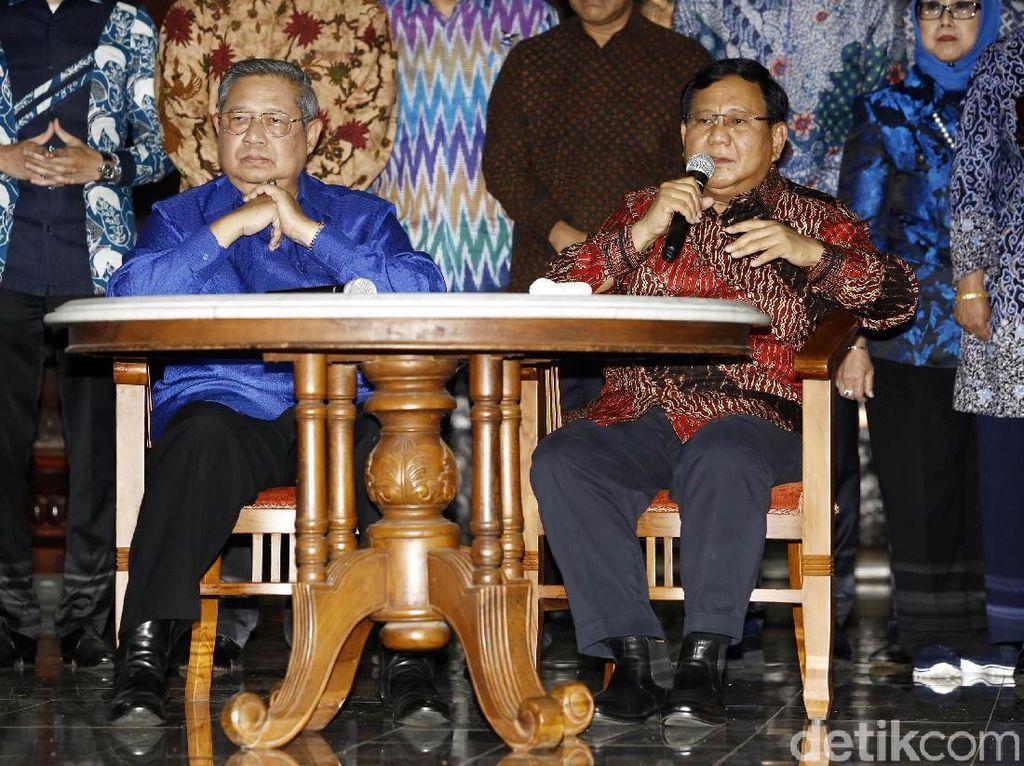 Prabowo-SBY Berhubungan Baik, Gerindra Yakin PD Mau Berkoalisi