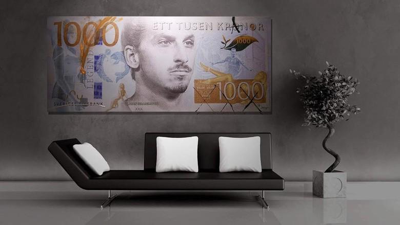 Wajah Zlatan Ibrahimovic di Mata Uang Swedia