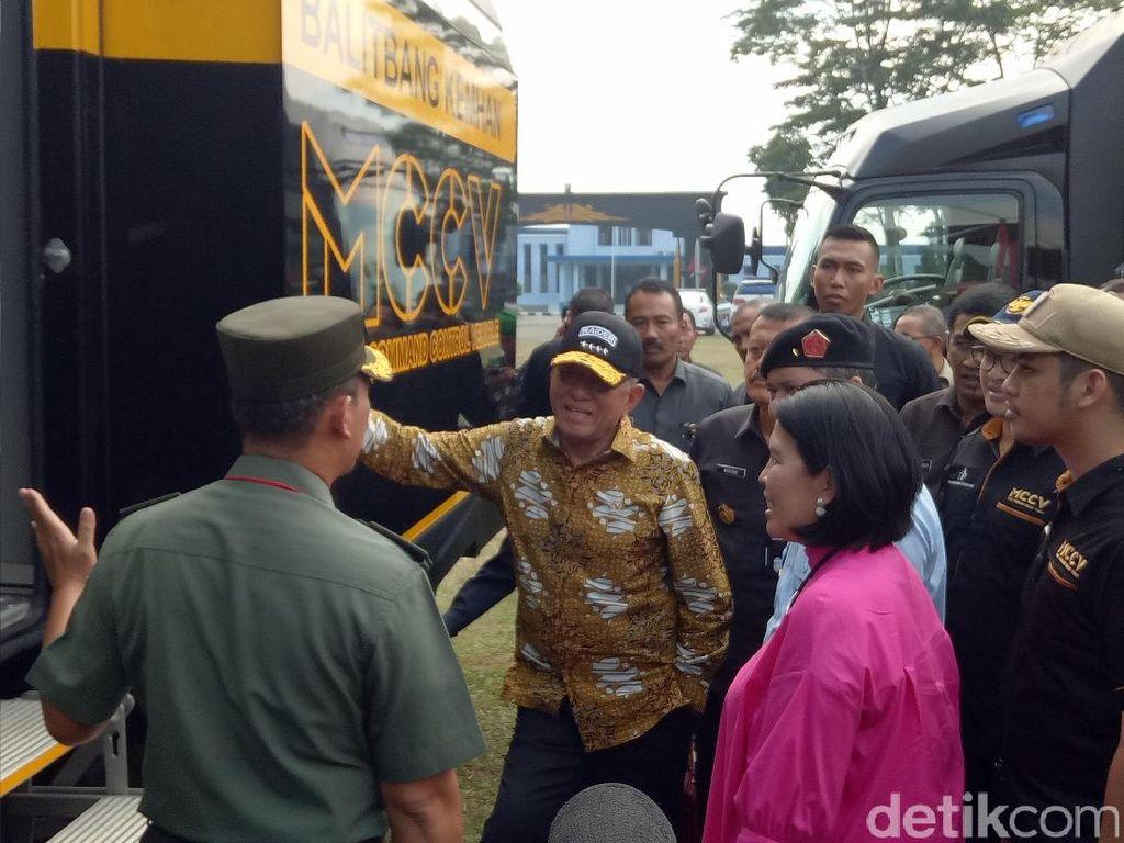 Menhan Tinjau Uji Coba Pesawat Tanpa Awak di Bogor