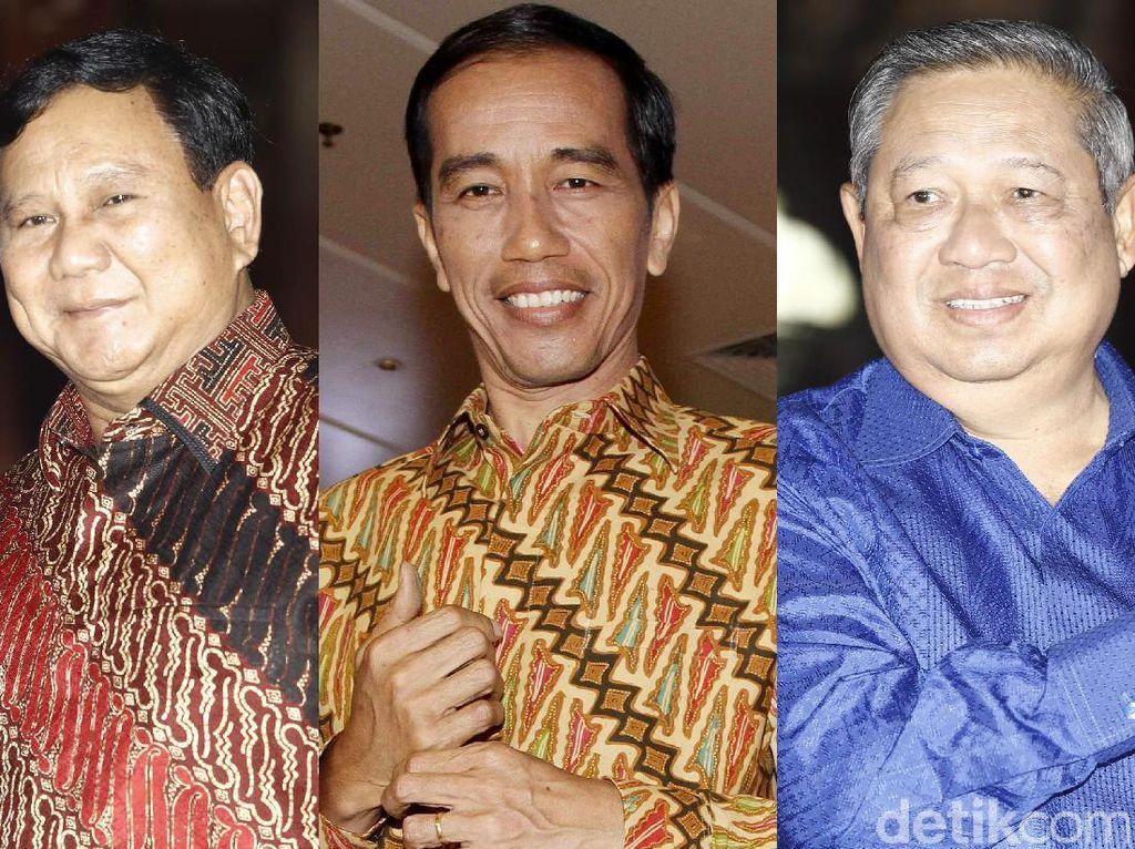 Foto: Antara Jokowi, SBY, dan Prabowo