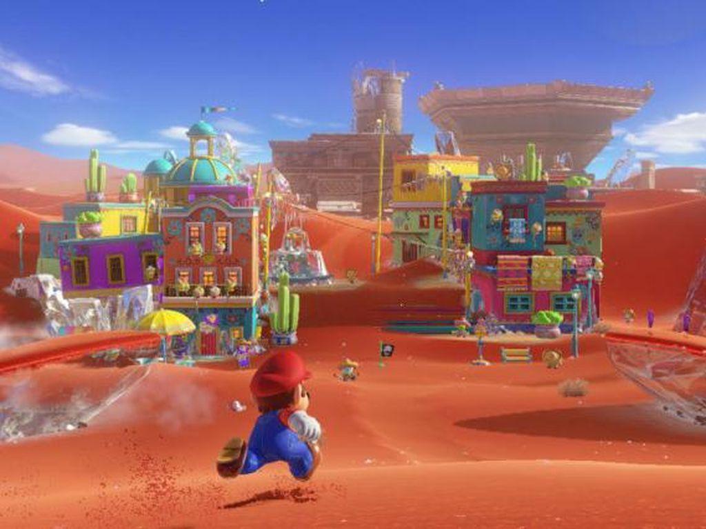 Super Mario Odyssey Tiru Gerakan Khas Sonic