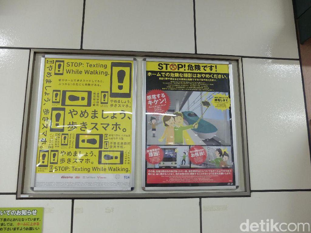 Jangan Selfie Pakai Tongsis di Stasiun Kereta Jepang, Pokoknya Jangan