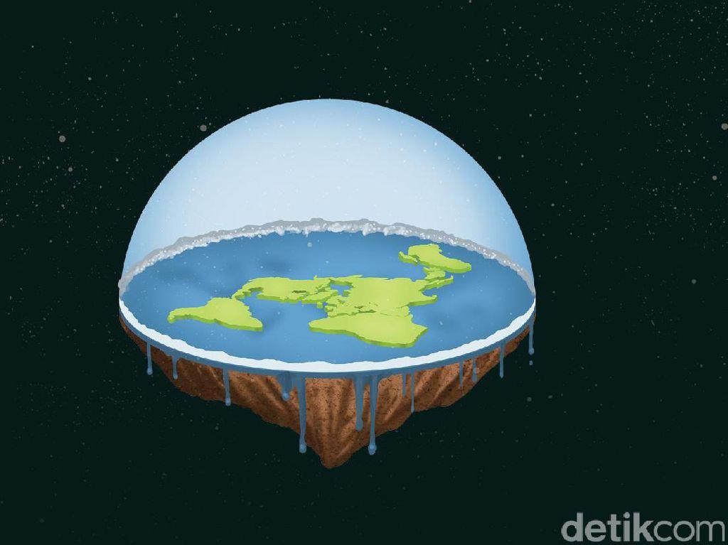 Kaum Bumi Datar Sebal Diejek Terus, Tantang Adu Bukti