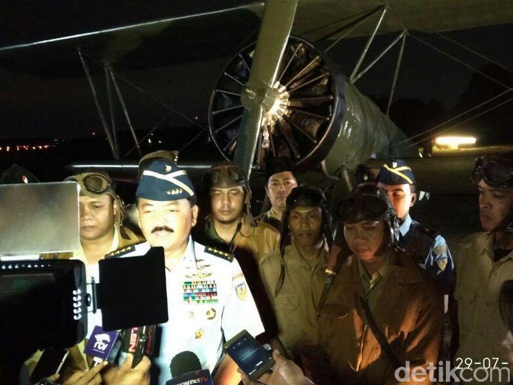KSAU Pimpin Upacara Napak Tilas Hari Bhakti ke-70 TNI AU di Yogya