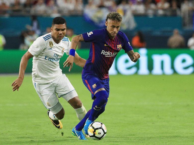 Mampir ke Ruang Ganti Madrid Usai El Clasico, Neymar Ucapkan Selamat Tinggal?