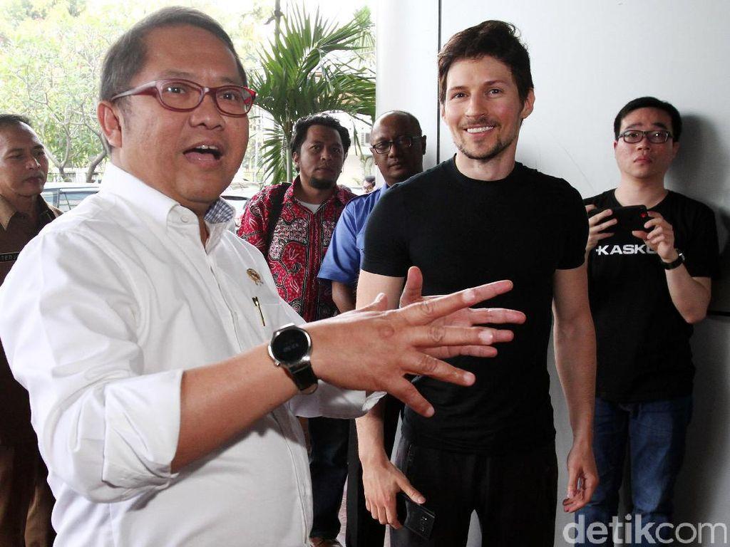 Pemilik Telegram Pavel Durov Sowan ke Kominfo