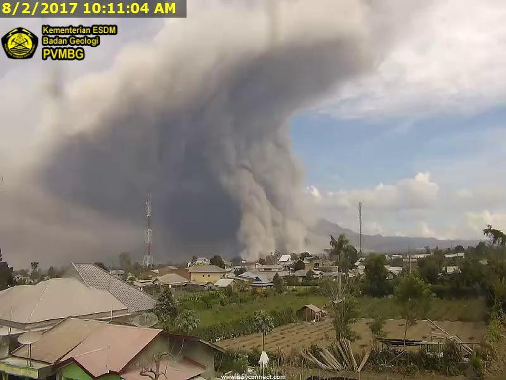 Pasca Erupsi, Kondisi Gunung Sinabung Kini Stabil