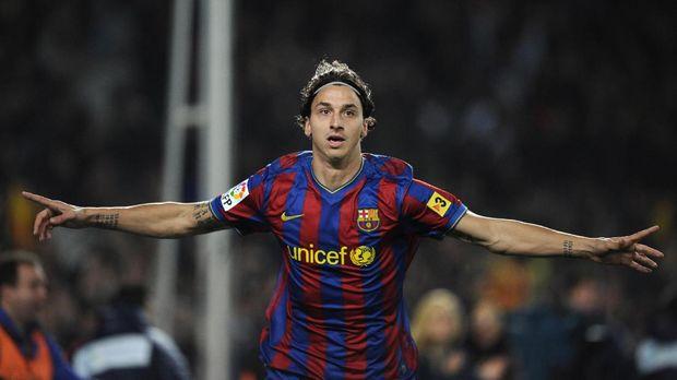 Zlatan Ibrahimovic gagal bersinar di Barcelona.
