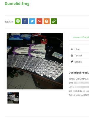 Aneh! Dokter Mengeluh Susah Cari, Dumolid Justru Banyak Dijual <I>Online</I>