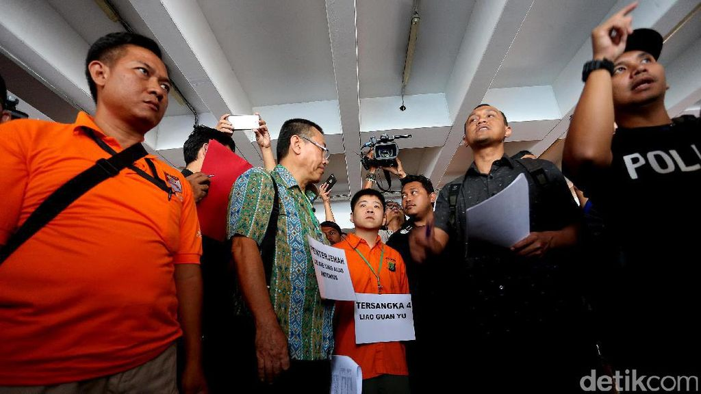 Suasana Rekonstruksi Penyelundupan 1 Ton Sabu dari Taiwan