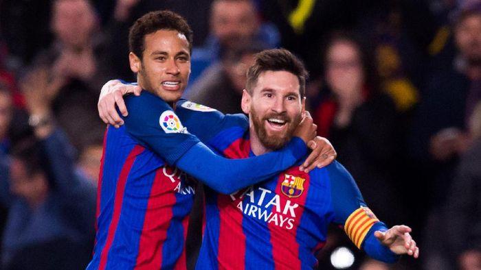 Neymar dan Messi semasa masih sama-sama di Barcelona. (Foto: Getty Images/Alex Caparros)