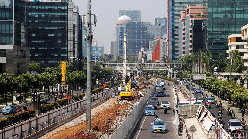 Foto: Mantap, Pembangunan LRT di Rasuna Said Mulai Dikerjakan