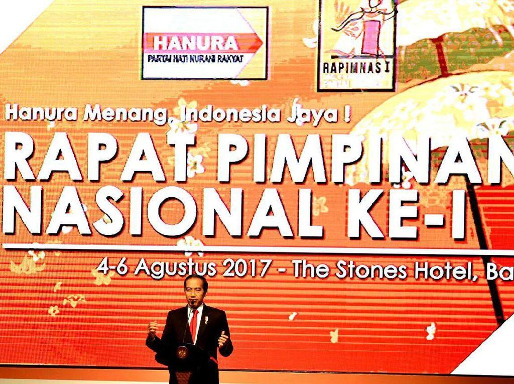 Hanura Instruksikan Kader Sosialisasikan Jokowi untuk Pilpres 2019