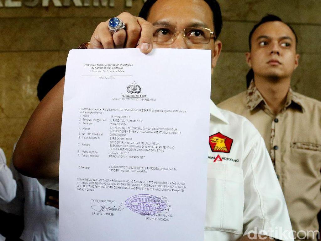 Gerindra dan PAN Laporkan Viktor Laiskodat ke Polisi