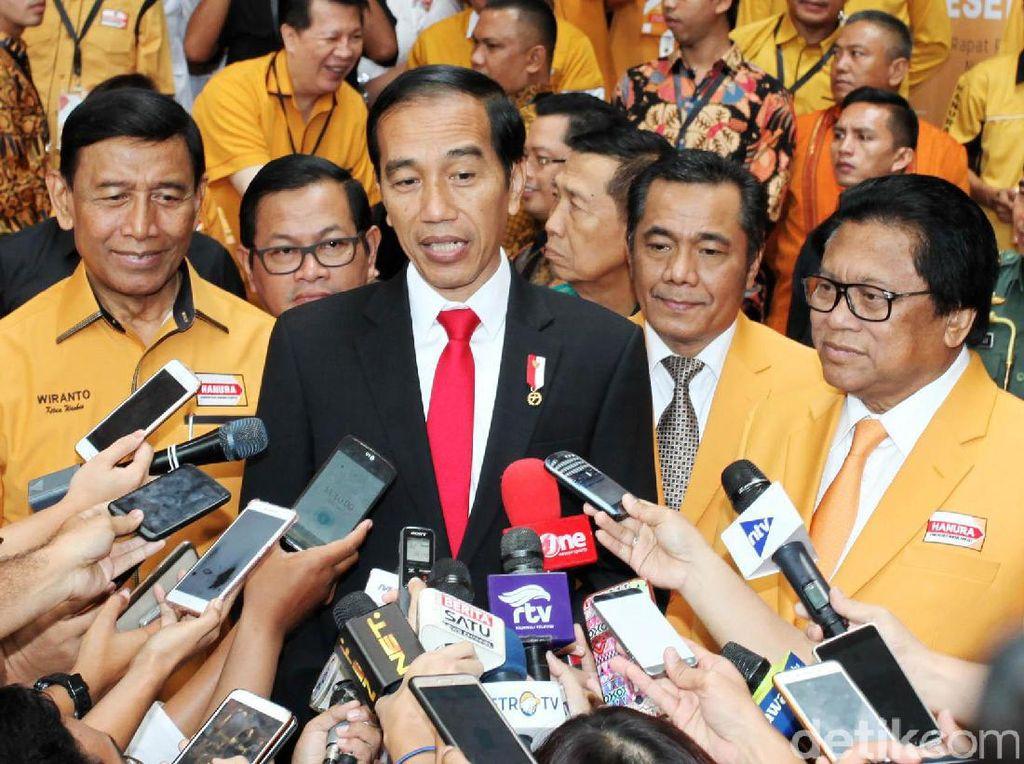 Jokowi Hadiri Rapimnas Partai Hanura