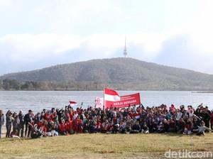 Meriahnya Agustusan WNI Canberra di Danau Burley Griffin