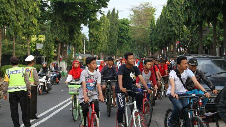 Tekan Angka Laka, Dishub Kediri Canangkan  Bersepeda ke Sekolah