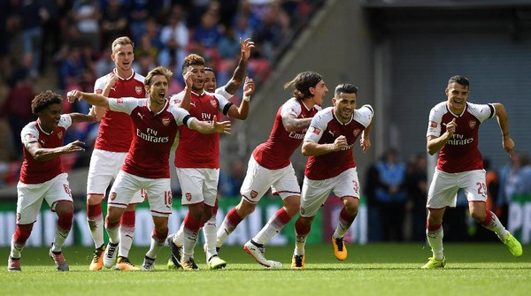 Kalahkan Chelsea Lewat Adu Penalti, Arsenal Juara Community Shield 2017