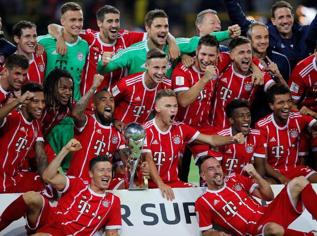 Momen-Momen Bayern Menangi Piala Super Jerman