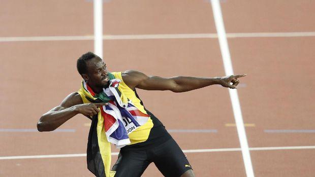Usain Bolt masih pemilik rekor dunia 9,58 detik lari 100 meter. (