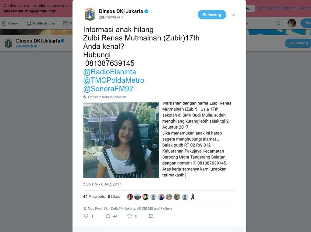 Hilang 6 Hari, Siswi SMK Tangerang Sempat Disembunyikan Pacarnya