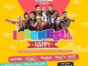 Besok, Nikmati Musik Sambil Ngakak Bareng di Indonesia Happy