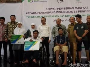 BPJS Ketenagakerjaan Bagikan Alat Bantu Bagi 160 Disabilitas di Jabar