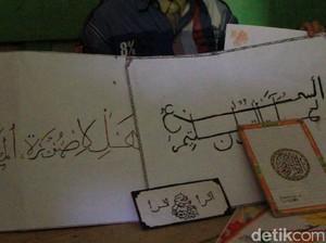 Bocah Pengidap Tumor Ganas di Bandung Senang Menggambar Kaligrafi