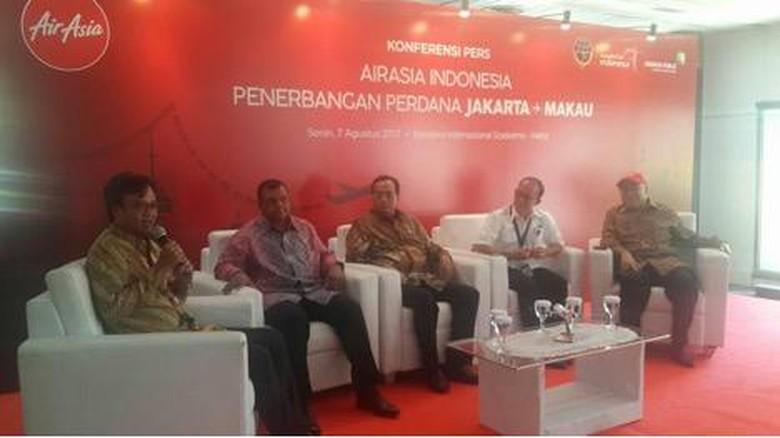 Konferensi pers AirAsia Indonesia, penerbangan Jakarta-Makau (Foto: Kemenpar)
