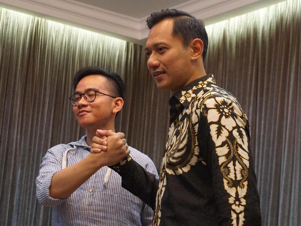 Video Kala Gibran-Agus Yudhoyono Saling Lempar Pujian